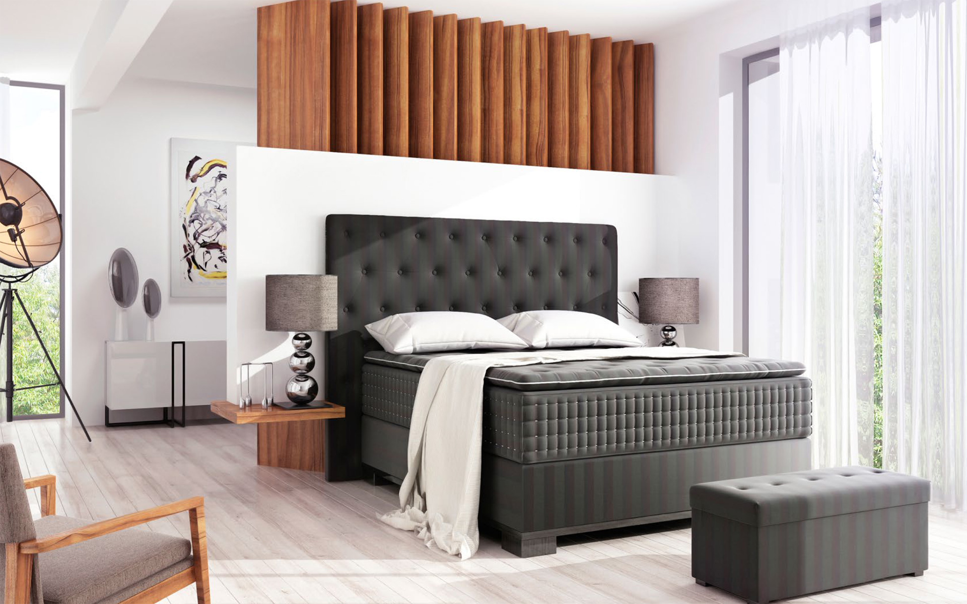 boxspring betten galerie wohndesign freising. Black Bedroom Furniture Sets. Home Design Ideas